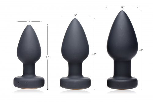 7X Light Up Rechargeable Anal Plug - Large