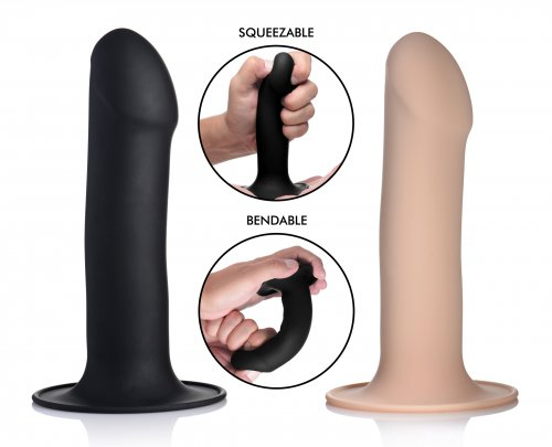 Squeeze-It Squeezable Phallic 6.75in Dildo - Vanilla