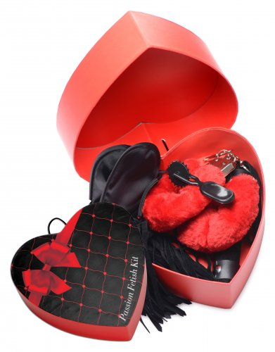 Frisky Passion Fetish Kit 4pc - Red/Black