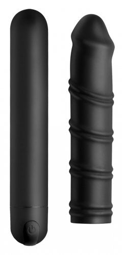 Bang! XL Bullet And Swirl Silicone Sleeve Set - Black