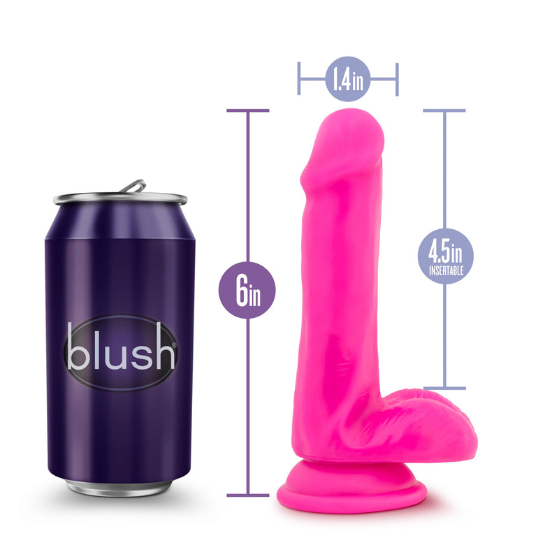 Au Naturel Bold Delight Dildo With Suction Cup 6in - Pink