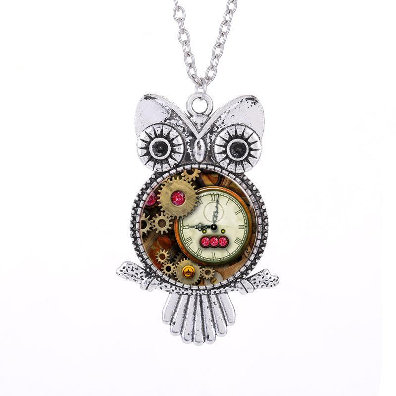 Handmade Retro Owl Necklace