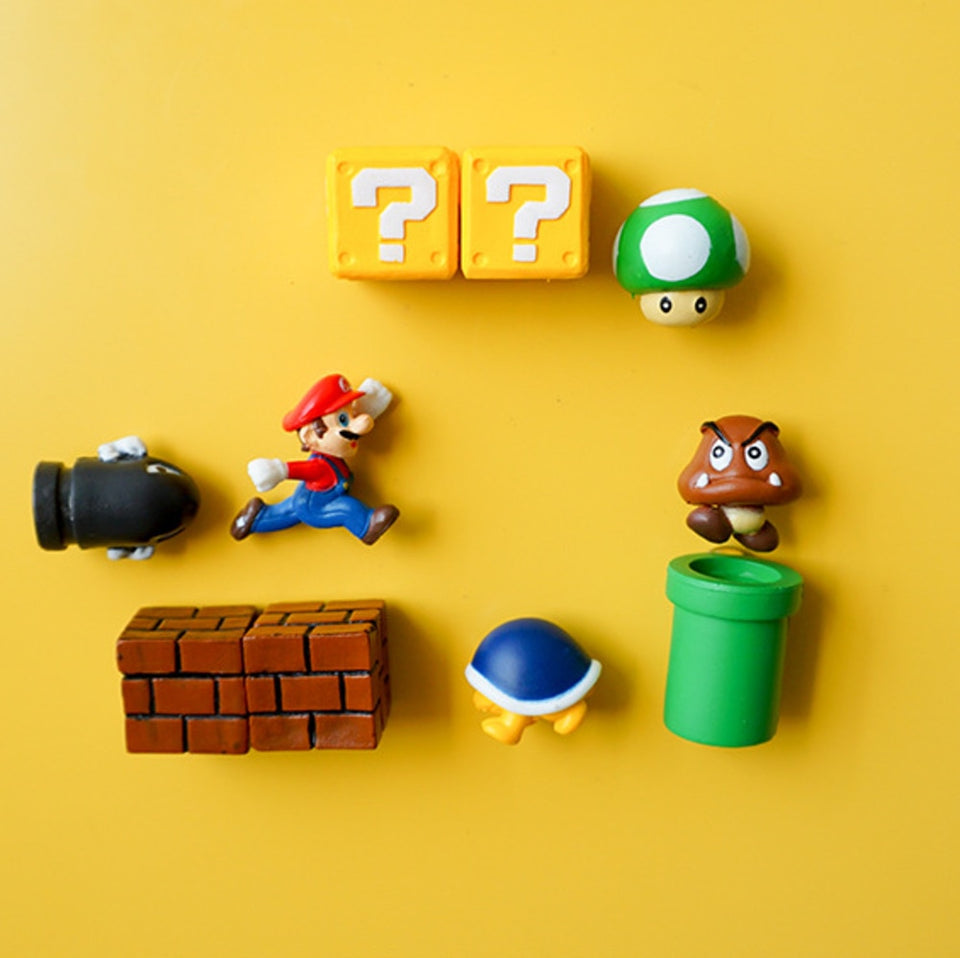 10pcs 3D Super Mario Bros. Fridge Magnets