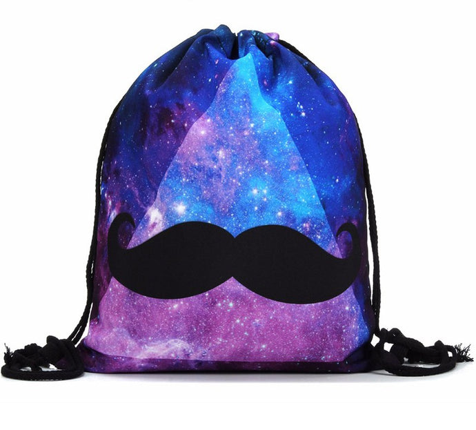 Galaxy Stash Drawstring Bag