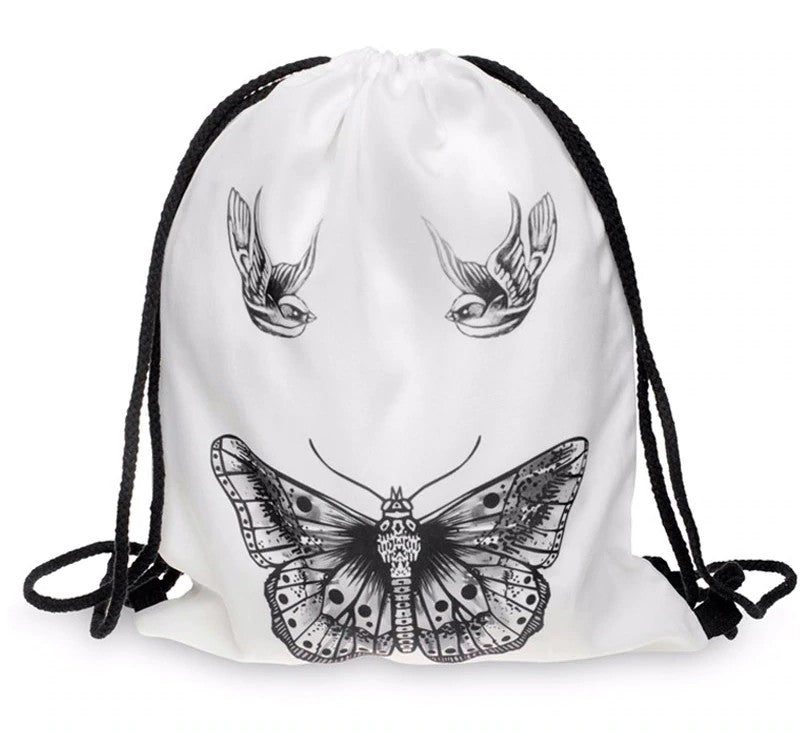 Butterfly Drawstring Bag