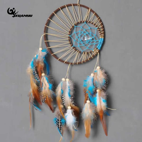 Brown and Blue Dream Catcher