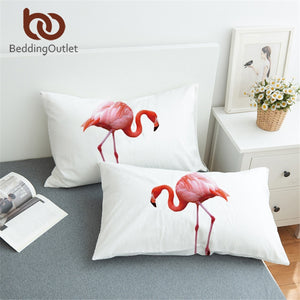 Pink Flamingo Pillowcase