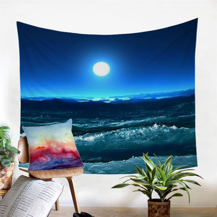 Beach And Waves Tapestry