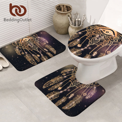 Eye Dreamcatcher Bathroom Mat 3-Piece Set