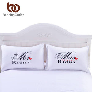MR and MRS Right Pillowcases