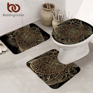 Tortoise Bathroom Mat 3-Piece Set