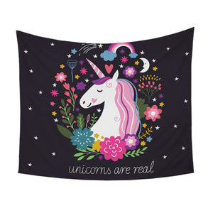 Unicorns Are Real Tapestry