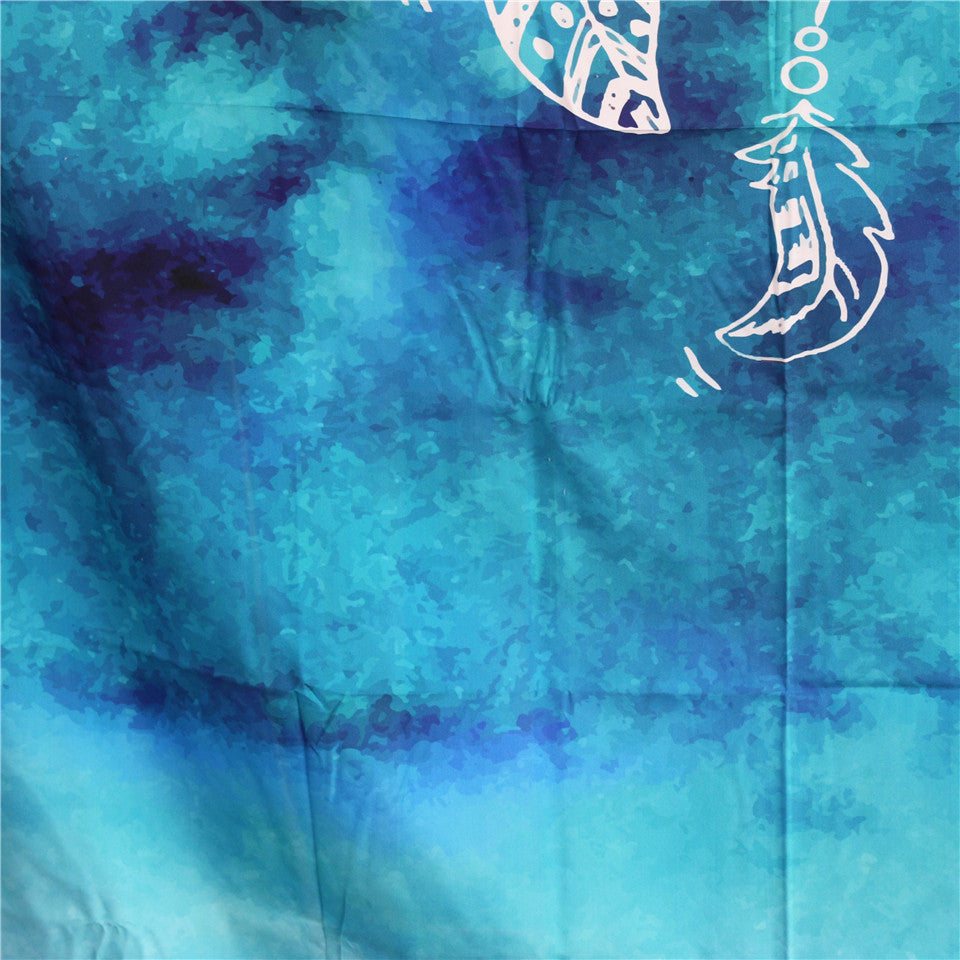 Watercolor Blue Dream Catcher Tapestry