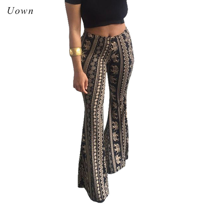 Flare Tribal African Bell Bottom Leggings