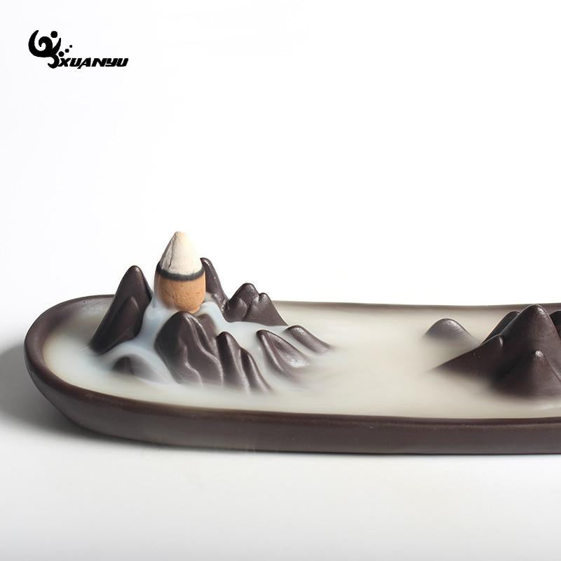 Ceramic Mountain Tower Incense Holder