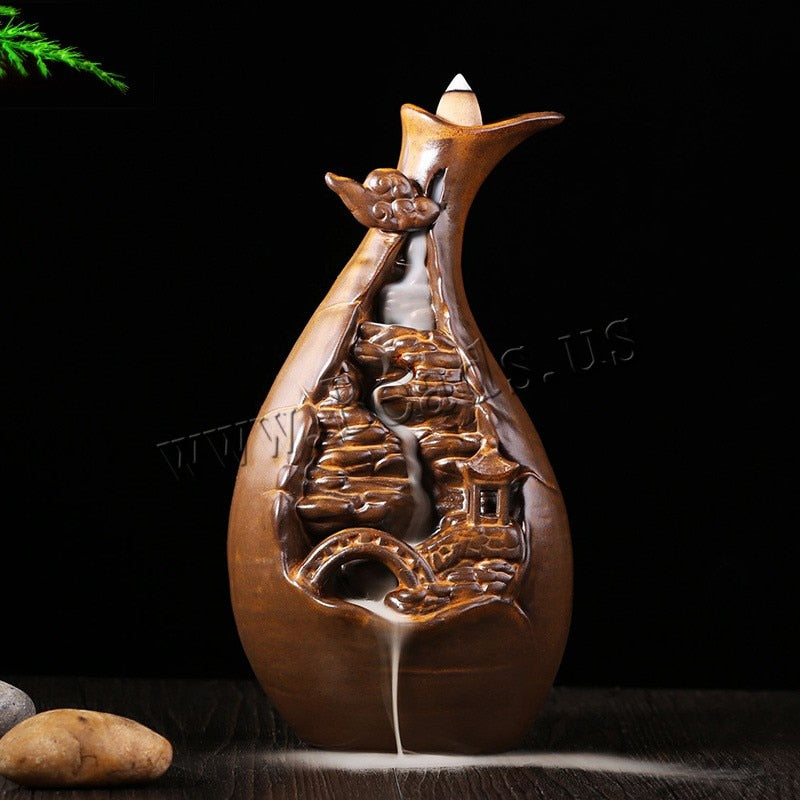 Waterfall Backflow Incense Holder