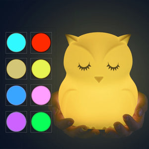 Owl LED Night Light Lamp