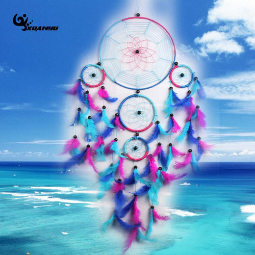 Purple & Blue Dream Catcher