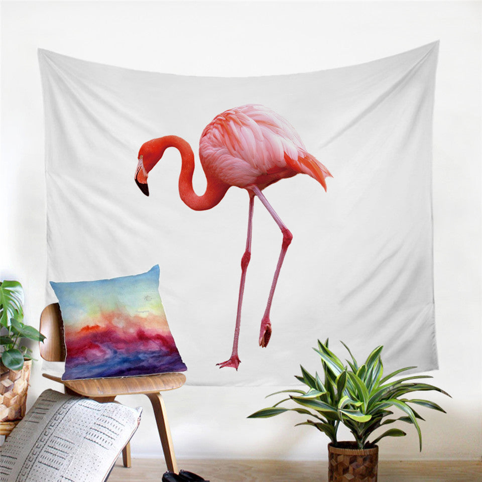 The Walking Flamingo Tapestry