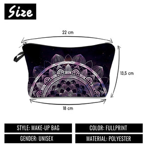 Half Mandala Makeup Bag