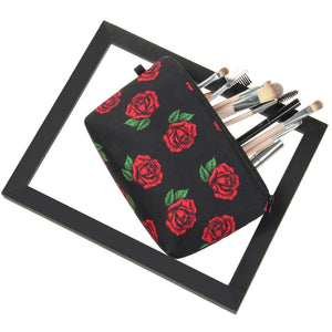 Red Roses Makeup Bag