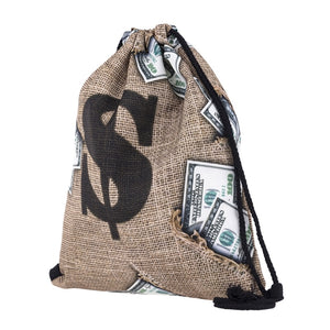 Money Bag Drawstring Bag