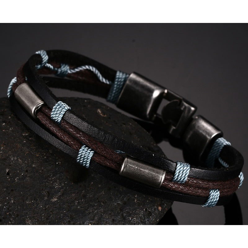 Bangles Multi-layer Leather Bracelet
