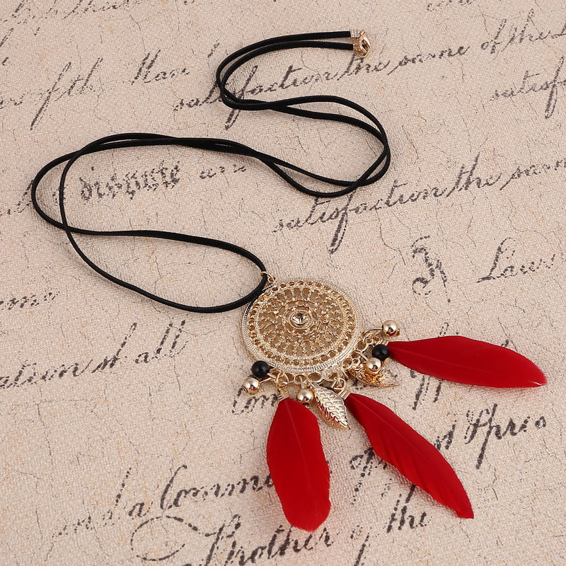 Dream Catcher 3 Feather Necklace - Free + Shipping