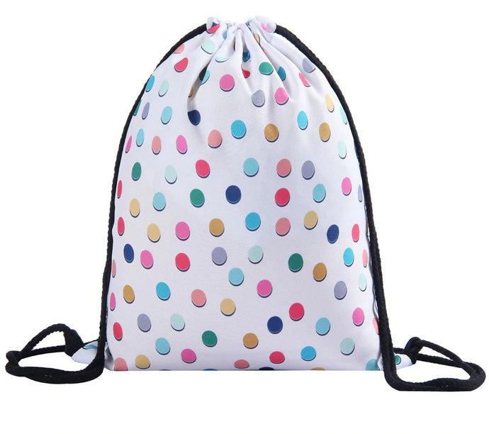Polka Dot Drawstring Bag