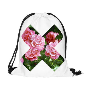 Trippy X Drawstring Backpack
