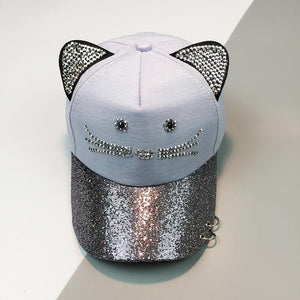 Sequin Cat Ears Hat