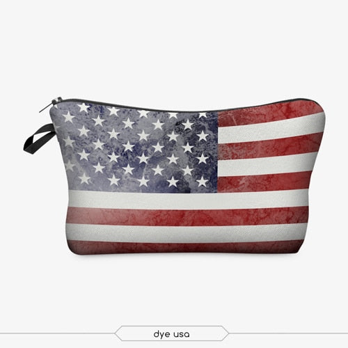 American Flag Makeup Bag