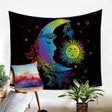Sun and Moon Rainbow Tapestry