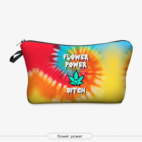 Flower Power B!T*H Makeup Bag