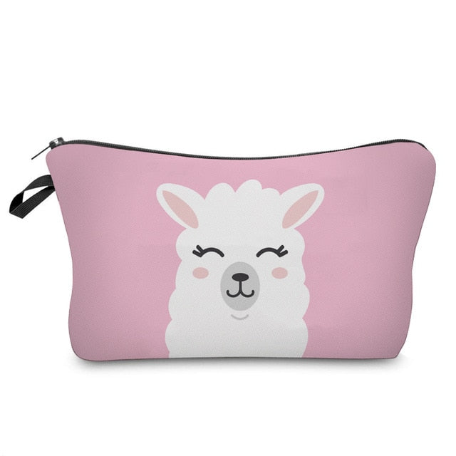 Happy Llama Makeup Bag