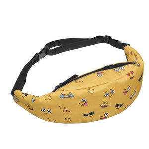 Yellow Emoji Smiley Hip Pack