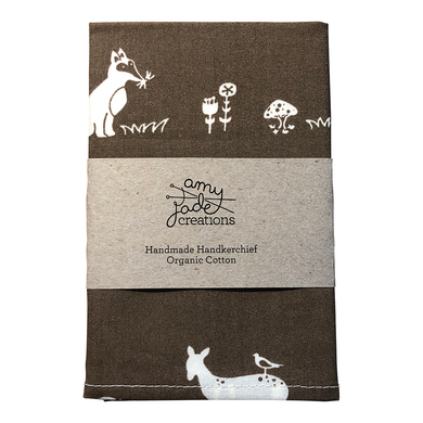 Organic Cotton Hanky - Forest Friends