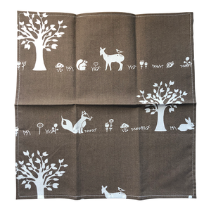 Organic Cotton Hanky - Forest Friends Open