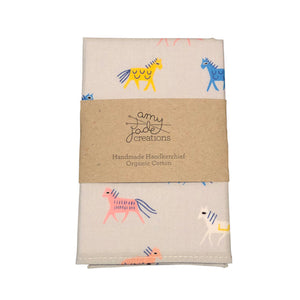 Organic Kids Hanky by Amy Jade Creations - Ponies