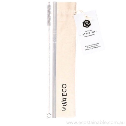 everECO Stainless Steel Straw Kit
