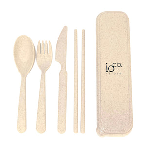 IOCO Wheat Straw Cutlery Set - Natural
