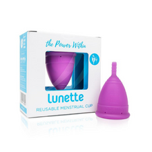 Lunette Menstrual Cup Model 2 Violet with packaging