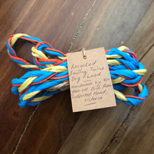 recycled bailing twine dog lead tied in bundle