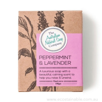 The Australian Natural Soap Company Peppermint & Lavender Box