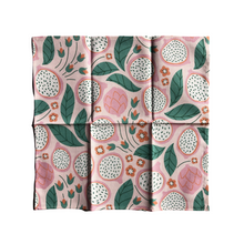 Organic Cotton Hanky - Dragonfruit open