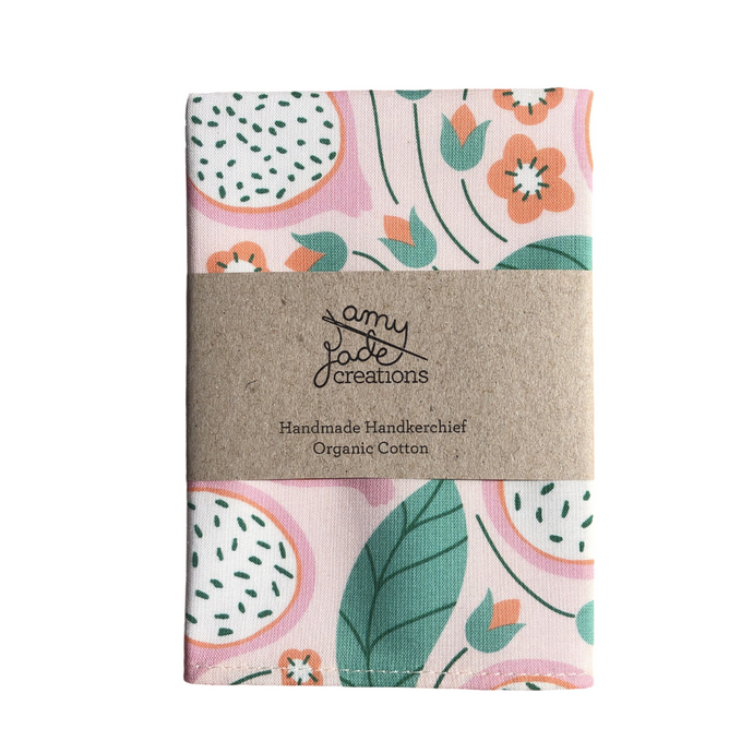 Organic Cotton Hanky - Dragonfruit