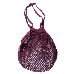 Apple Green Duck Classic Cotton String Bag in Ruby Wine
