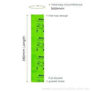 Compost-A-Pooch Compostable Dog Poo Bags Measurments