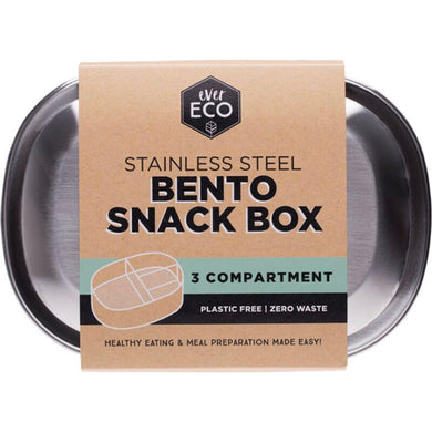 everECO Stainless Steel Bento Box - Three Compartments