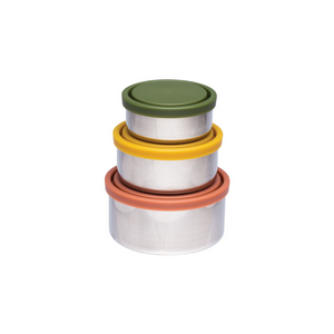 everECO Stainless Steel Round Nesting Containers - Autumn Collection